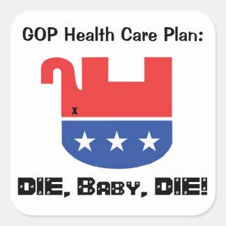 GOP Health Care Plan Square Sticker