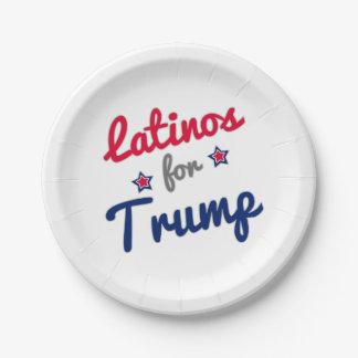 GOP Latinos 2016 Trump 7 Inch Paper Plate