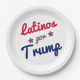 GOP Latinos por Trump Spanish 2016 9 Inch Paper Plate