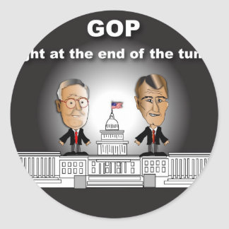 GOP Light at the End of the Tunnel Round Sticker