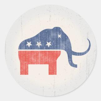 GOP Mammoth Logo Stickers