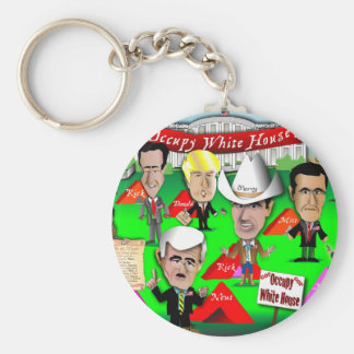 GOP Occupy White House Basic Round Button Key Ring