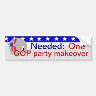 GOP party makeover Bumper Sticker