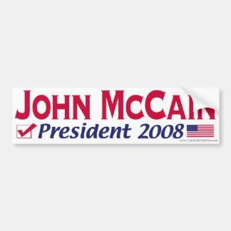 GOP Red McCain Bumper Sticker