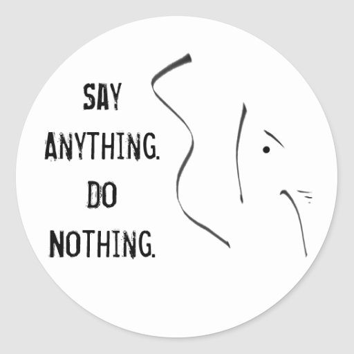 GOP Say Anything.  Do Nothing. Round Stickers