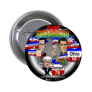 GOP Sober Wednesday 6 Cm Round Badge
