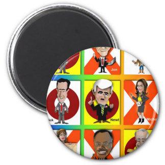 GOP Tic Tac Toe 6 Cm Round Magnet