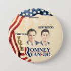 GOP Tradition:Romney Ryan 7.5 Cm Round Badge