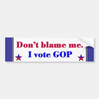 GOP Vote Bumper Sticker