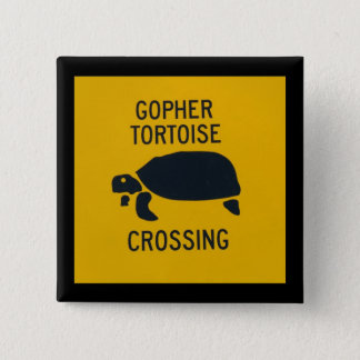 Gopher Tortoise Crossing 2 15 Cm Square Badge