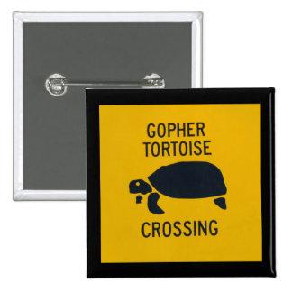 Gopher Tortoise Crossing 2 15 Cm Square Badge