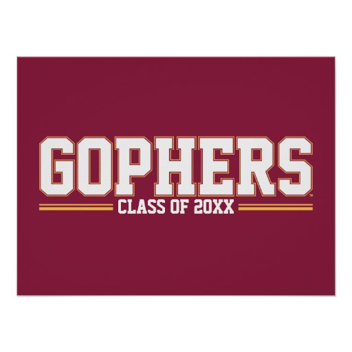 Gophers Class Year Poster