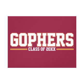 Gophers with Class Year Stretched Canvas Print