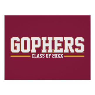 Gophers with Class Year Poster