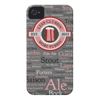 GoPubbin' Beer Styles iPhone 4 Case - Grey