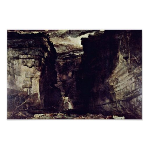 Gordale Scar By James Ward Poster
