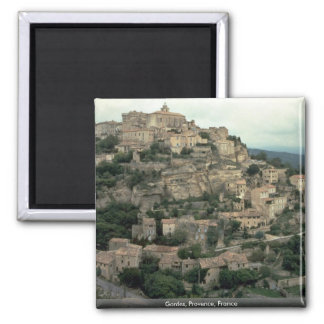 Gordes, Provence, France Square Magnet