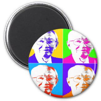 Gordon B. Hinkley Pop Art 6 Cm Round Magnet