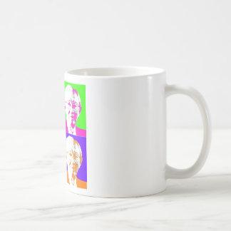 Gordon B. Hinkley Pop Art Basic White Mug