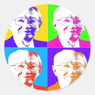 Gordon B. Hinkley Pop Art Round Sticker