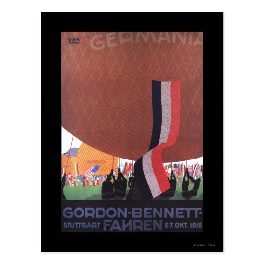 Gordon Bennett Hot-Air Balloon Race Postcard