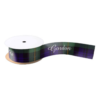 Gordon clan Plaid Scottish tartan Satin Ribbon