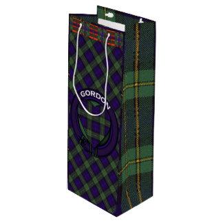 Gordon clan Plaid Scottish tartan Wine Gift Bag