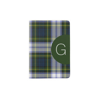 Gordon Dress Plaid Monogram Passport Holder