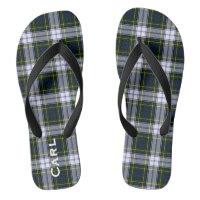 Gordon Dress Plaid Personalised Flip Flops