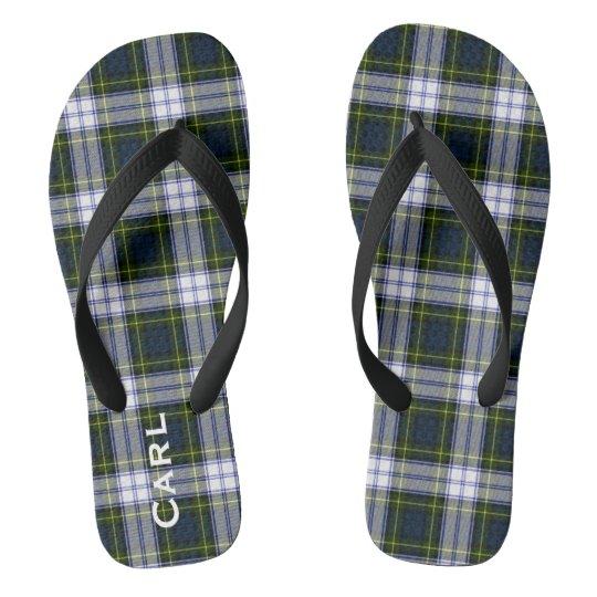 bb70eab4a9db86 Gordon Dress Plaid Personalised Flip Flops
