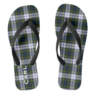 Gordon Dress Plaid Personalized Flip Flops