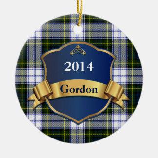 Gordon Dress Tartan Plaid Custom ornament