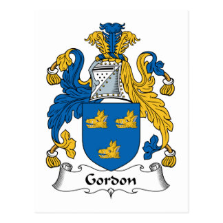 Gordon Family Crest Postcard