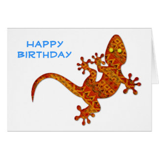 Gordon Gecko Birthday Card