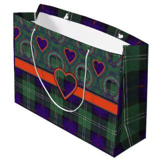 Gordon of Atholl clan Plaid Scottish kilt tartan Large Gift Bag