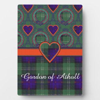 Gordon of Atholl clan Plaid Scottish kilt tartan Plaque