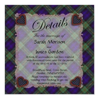 Gordon Scottish clan tartan - Plaid 13 Cm X 13 Cm Square Invitation Card