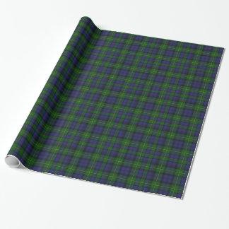 Gordon Scottish Tartan Plaid Wrapping Paper