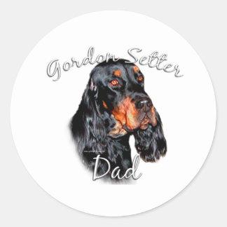 Gordon Setter Dad 2 Round Sticker