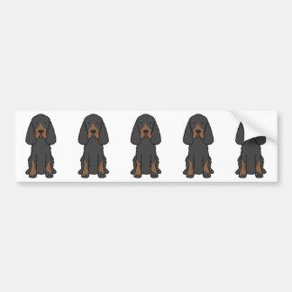 Gordon Setter Dog Cartoon Bumper Sticker