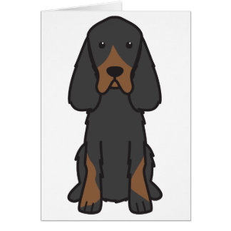 Gordon Setter Dog Cartoon Card