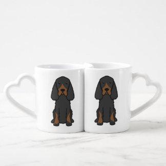 Gordon Setter Dog Cartoon Lovers Mug