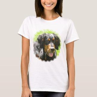 Gordon Setter Dog Ladies Fitted T-Shirt