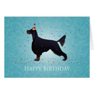 Gordon Setter Happy Birthday Design Card