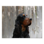 Gordon Setter Head Painting Canvas Print