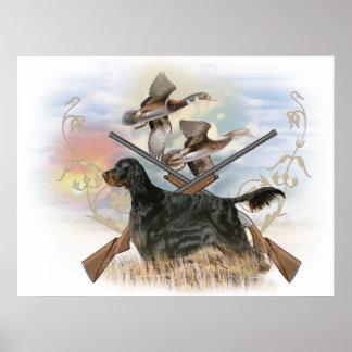 Gordon Setter Hunts Poster