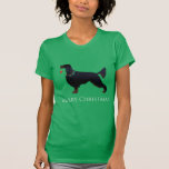 Gordon Setter Merry Christmas Design Tshirt