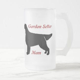 Gordon Setter Mom Frosted Glass Mug