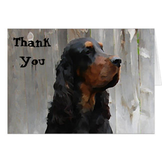 Gordon Setter Painting Thank You Note Card