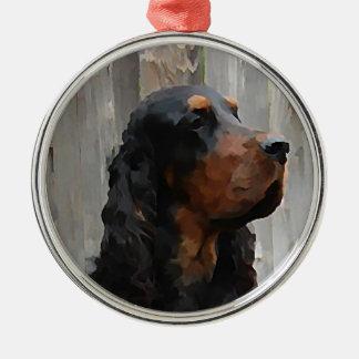 Gordon Setter Paintng Ornament